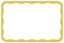 Gold Border Adhesive Name Tags | Party Supplies