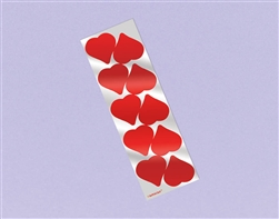 Foil Hearts Sticker Strip | valentines supplies