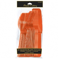 Orange Assorted Plastic Silverware | Party Supplies