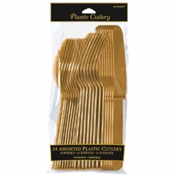 Gold Assorted Cutlery - 24ct. | Party Supplies