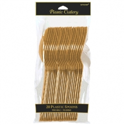 Gold Spoons - 20ct. | Party Supplies