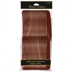 Chocolate Brown Knives - 20ct. | Party Supplies