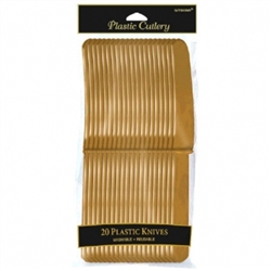 Gold Knives - 20ct. | Party Supplies