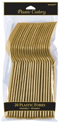 Gold Forks - 20ct. | Party Supplies
