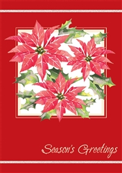 Bright Poinsettias Boxed Cards | Party Supplies