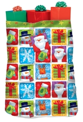 Holiday Friends Giant Plastic Gift Sacks | Party Supplies