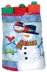 Frosty Friends Super Giant Plastic Gift Sacks | Party Supplies