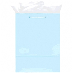 Light Blue Mini Solid Glossy Bags | Party Supplies