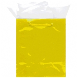 Yellow Mini Solid Glossy Bags | Party Supplies