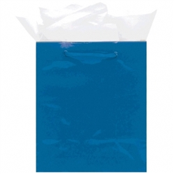Royal Blue Mini Solid Glossy Bags | Party Supplies