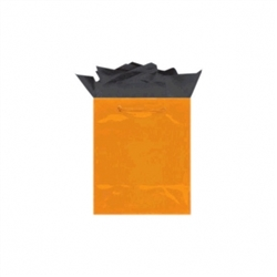 Orange Peel Medium Solid Glossy Bags | Party Supplies