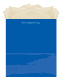 Royal Blue Glossy Paper Bag - Medium Size | Party Supplies