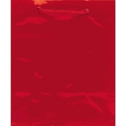 Red Jumbo Solid Glossy Paper Bags | Party Supplies