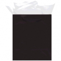 Black Jumbo Solid Glossy Bags | Party Supplies