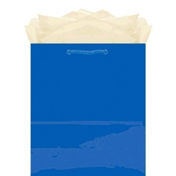 Royal Blue Glossy Paper Bag - Jumbo Size | Party Supplies