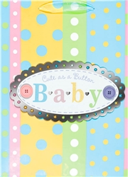 Stripes & Dots Baby Jumbo Specialty Bags | Party Supplies