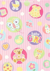 Baby Things Pink Giant Specialty Bags | Party Supplies