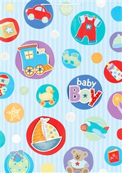 Baby Things Blue Giant Specialty Bags | Party Supplies