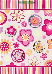 Fun Flowers & Stripes Giant Specialty Bags | Party Supplies