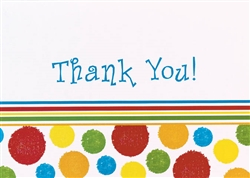 Bright Dots Thank You Cards | Party Supplies