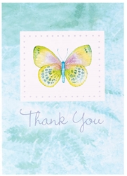 Delicate Butterfly Thank You Cards | Party Supplies