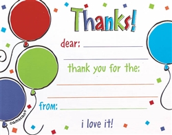 Balloon Scribble Thank You Cards | Party Supplies
