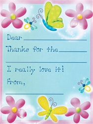 Dazzling Butterflies Thank You Cards | Party Supplies