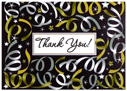 Silver Streamers Value Pack Thank You Cards | Party Supplies