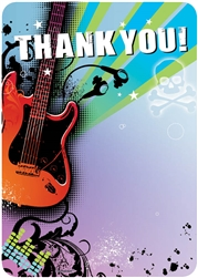 Rock Star Fill-In Thank You Cards | Party Supplies