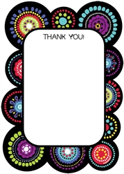 Graphic Fun Fill-In Thank You Card | Party Supplies