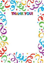 Fanfare Fun Fill-In Thank You Card | Party Supplies