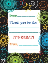 Doodle Days Fill-In Thank You Cards | Party Supplies