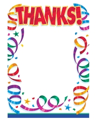Party Streamers Postcard Thank You Card | Party Supplies
