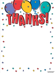 Balloon Party Postcard Thank You Card | Party Supplies