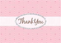 Pink Passion w/Glitter Thank You Card | Party Supplies