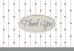 Formal Affair w/Glitter Thank You Card | Party Supplies