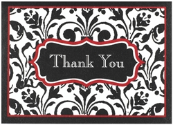 Stylish Statement Thank You Card | Party Supplies