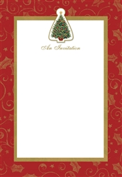 Twinkling Tree Imprinted Invitations | Party Supplies