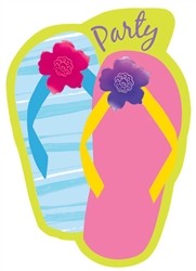 Flip Flop Razzle Dazzle Invitations | Party Supplies