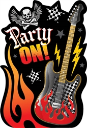 Rock On Postcard Invitations | Party Supplies