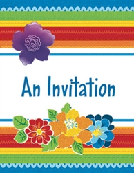 Cabana Rio Razzle Dazzle Invitations | Party Supplies
