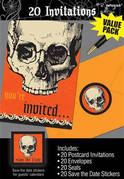Be Afraid Invitations | Party Supplies