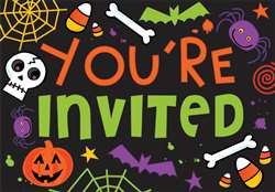 Spooktacular Postcard Invitation Value Pack | Party Supplies