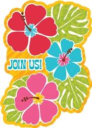 Bright Hibiscus Value Pack Invitations | Luau Party Supplies