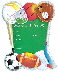 Game Day Jumbo Prismatic Specialty Invitation | Party Supplies