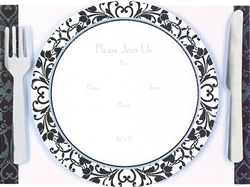 Dinner Party Foil Specialty Invitations | Party Supplies