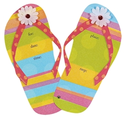 Flip Flops Jumbo Speciality Invitations | Party Supplies