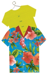 Hawaiian Shirt Jumbo Speciality Invitations | Party Supplies