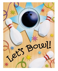 Let's Bowl Novelty Invitation | Party Supplies