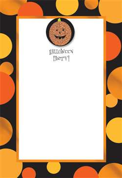 Sparkle Pumpkin Invitation | Party Supplies